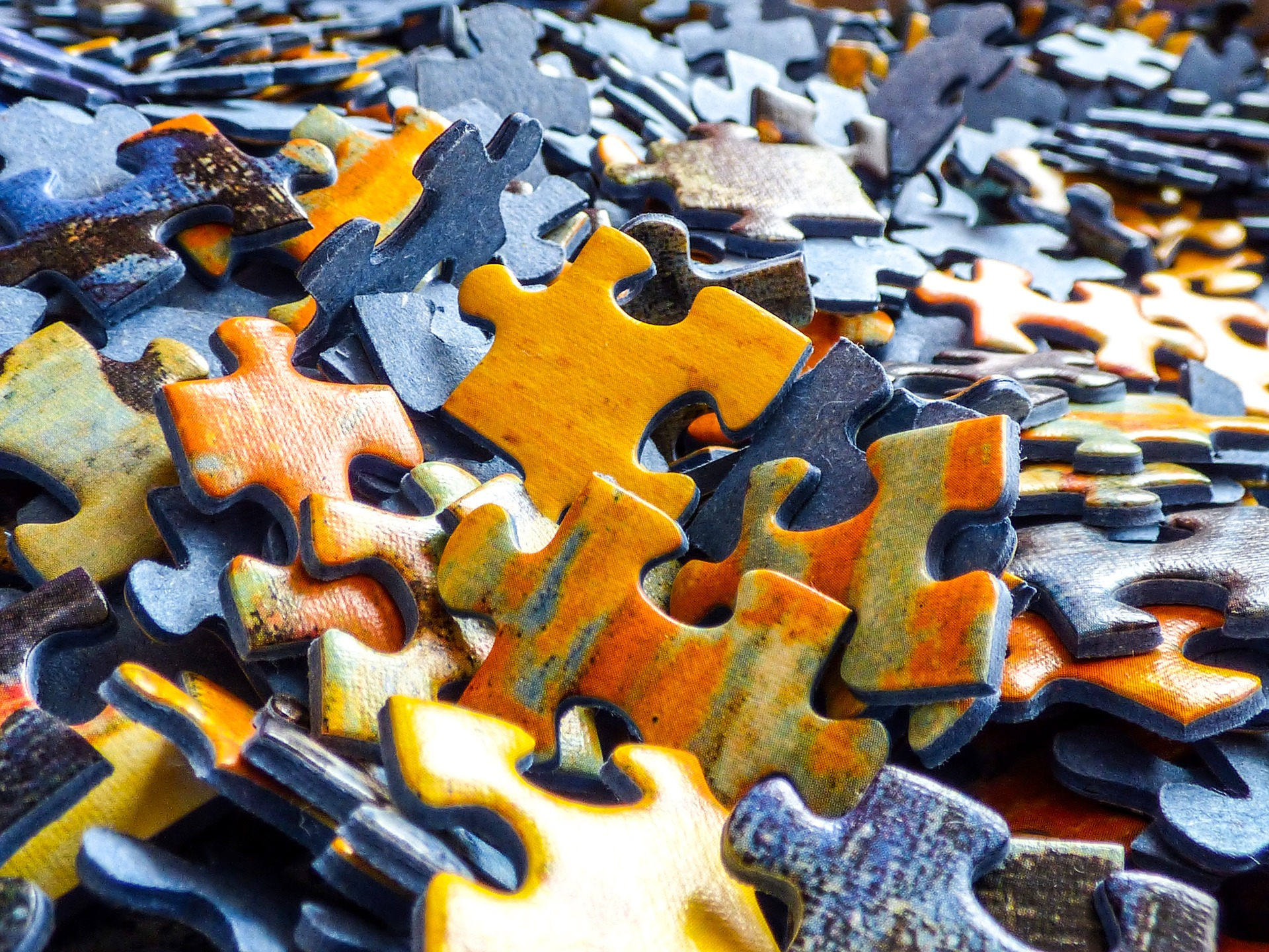 Picture Of A Pile Puzzle Pieces