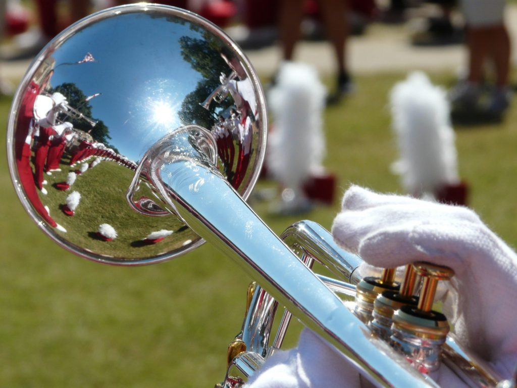 Picture of a silver trumpet